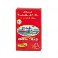 Lata de 125ml  de Filete de Caballa Virgen del Carmen Peso neto 120g Peso escurrido 81g