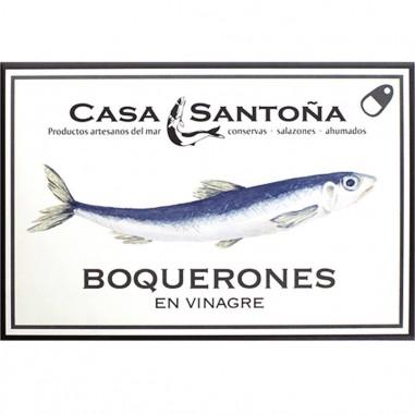 Boquerones en vinagre de Casa Santoña en Salazones Diego