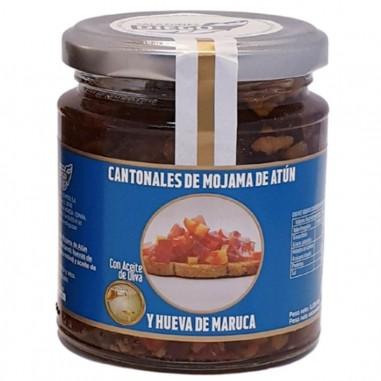 Cantonal (dados) en Aceite de Oliva de Mojama de Atún y Hueva de Maruca